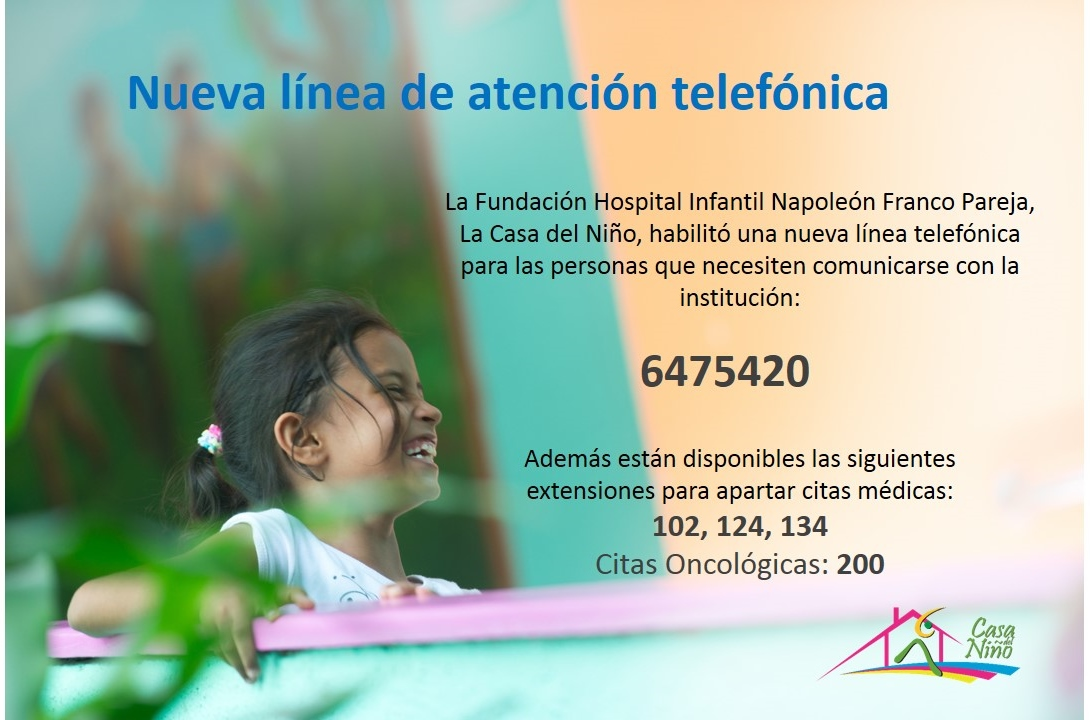 La casa del ni o fundaci n hospital infantil napole n for Poner linea telefonica en casa