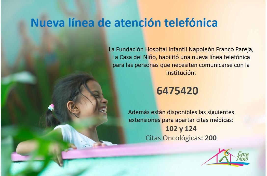 Fundaci n hospital infantil napole n franco pareja casa for Poner linea telefonica en casa